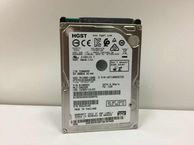 """HGST 2.5/"""" 7mm 500GB 7200RPM 32GB Cache SATA 6.0Gb//s laptop notebook HDD TESTED"""