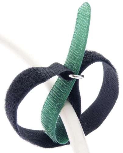 10 x cable cinta de velcro 30 cm x 20 mm verde oscuro cinta de velcro velcro cable cinta viga reticulada