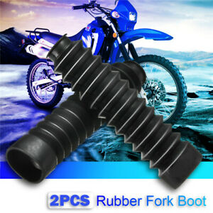 Motorcycle-Rubber-Front-Fork-Gaiters-Dust-Cover-Gators-Boots-For-Honda-Yamaha