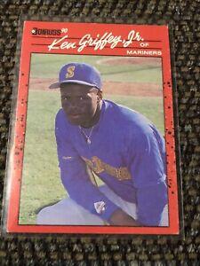 1990 Donruss Ken Griffey Jr. Card #365 Multiple Errors No Period After INC-READ