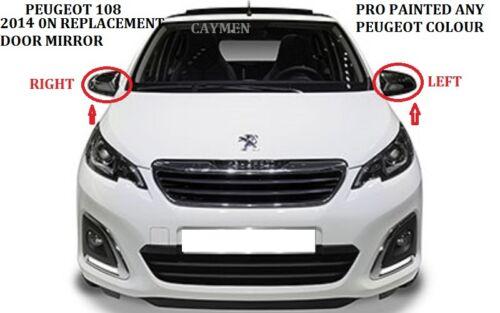manuel réglable Peugeot 108 Aile Miroir L//H or R//H tout OE Couleur 2014 sur