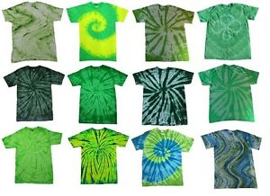 Pick-a-Green-Tie-Dye-T-Shirt-S-M-L-XL-2XL-3XL-4XL-5XL-Cotton-Colortone