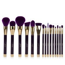 Jessup 15Pcs Darkviolet Makeup Brushes Cosmetic  Foundation Make Up Brush Set US