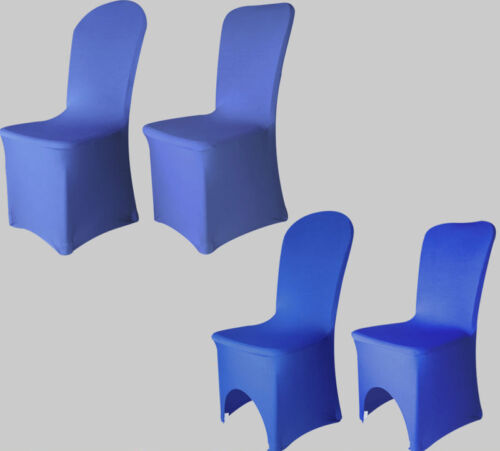 Royal Blue Chair Covers Stretch Spandex Lycra Wedding Banquet Anniversary Party