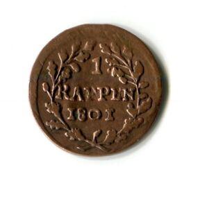100% Wahr 1 Rappen Schweiz 1801 M_737