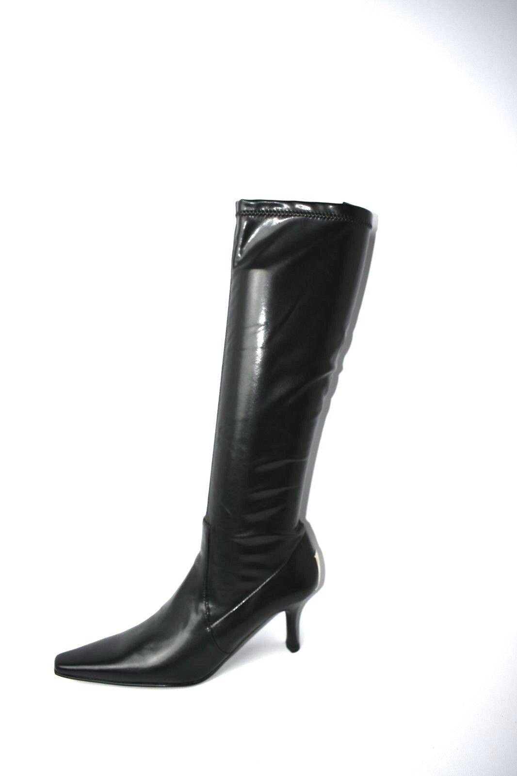 Donald J Pliner Womens SEF2-BS BLACK BABY CALF Elastic Boots 6.5 M US