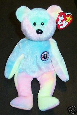 B.B BEAR Ty BIRTHDAY Beanie Baby Babies Tye Dye Bear