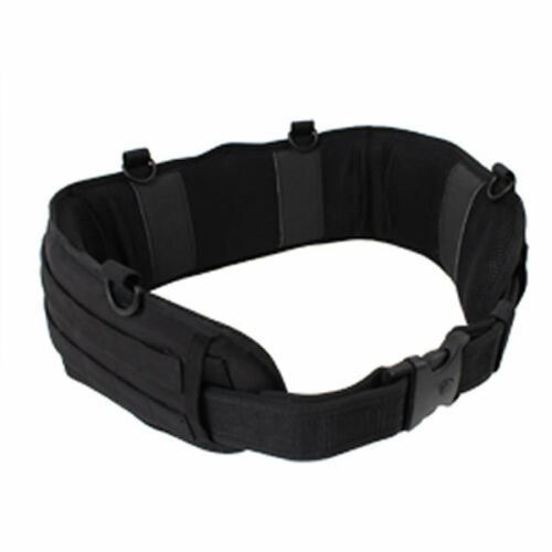 Padded MOLLE Combat  Battle Belt Competition and Military Operators BLACK