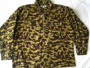 Super-Rare-Vintage-Authentic-A-Bathing-Ape-Military-Camo-zip-up-Shirts