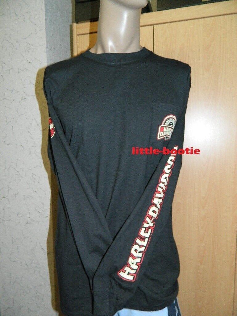 Harley-Davidson Shirt Herren Langarm-Shirt schwarz Gr. L Neu    Speedometer SALE