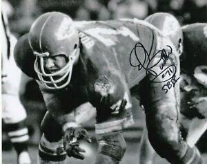 ED BUDDE  KANSAS CITY CHIEFS  SB IV  ACTION SIGNED 8x10