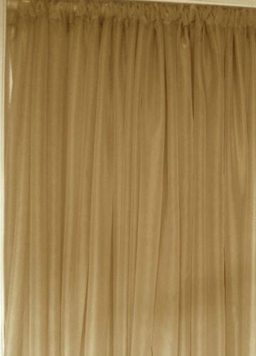 "room divider. backdrop Gold wedding decoration drapes sheer 6 to 12 ft x 114/"""