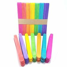 Item 2 100 Pcs Colorful Ice Cream Sticks Popsicle DIY Crafts Flat Wooden Timber