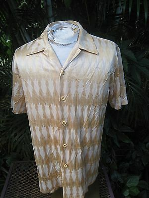 Mens Shirt CLUB/DISCO L Pit to Pit 23 PRONTI rayon poly Harlequin VTG 1990