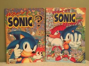 Sonic The Hedgehog Look Find 2 Book Lot Where S Sonic Now Sega Classic Ebay