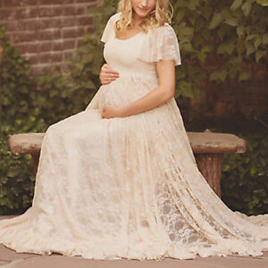Pregnant-Women-Photography-Dress-Maternity-Maxi-Wedding-Party-Dresses-Lace-Gown