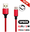miniature 11 - 5 Pack Micro USB Braided Fast Charger Data Sync Cable Cord For Samsung Android