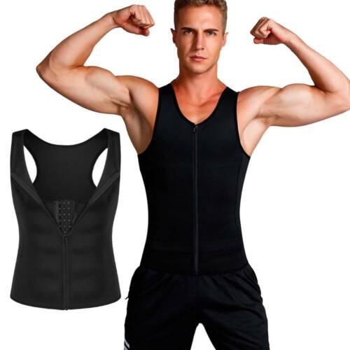 Sauna Vest Sweat Shaper Body Neoprene Slimming Waist Trainer Men/'s Hot Gym Tank