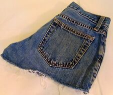 Gap Super Short Distressed Cut Off Light Wash Denim Shorts, Size 0 Reg