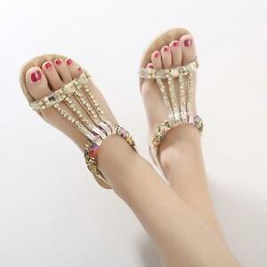 83e4b347ee4 Image is loading Rhinestones-Glitter-Sandals-Womens-Open-Toes -Crystal-Hollow-