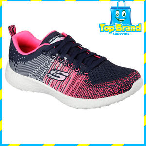 Skechers-Womens-Energy-Burst-Ellipse-Charcoal-Pink-Gym-MEMORY-FOAM-ALL-SIZES