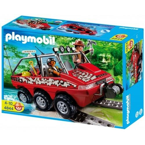 NEW SEALED Playmobil 4844 Treasure Hunters Amphibious Vehicle *Retired*