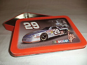 Playing-Cards-Holder-Tin-Box-Kevin-Harvick-Race-Car-Embossed-Richard-Childress