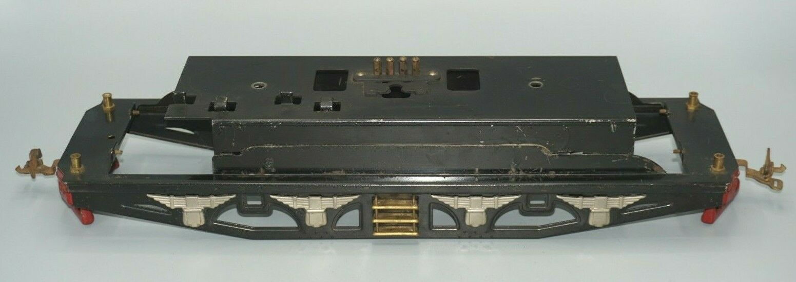 LIONEL PREWAR STANDARD GAUGE 402E-408E FRAME WITH BUMPERS, COUPLERS,TRIM, STAIRS