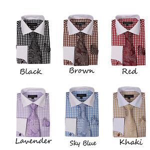 700ba3fb Men's 60% collton shirt Matching Color cat eyes Cuffing Plaids ...