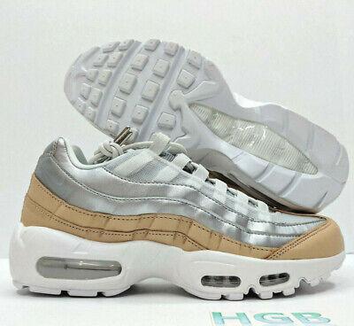 on sale 37d8f f9445 Nike Air Max 95 SE PRM Premium Womens Sneaker Platinum Silver Running  AH8697-002 | eBay