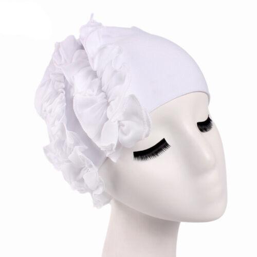 New Women Indian Muslim Beanie Turban Hat Flower Head Scarf Wrap Chemo Cap Arab