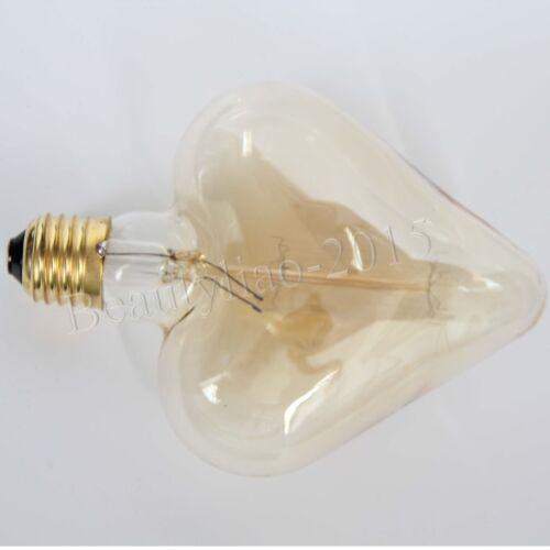 Nostalgia Retro Heart//Pentagram Edison Bulb Vintage E27 Screw Pendant Light 220V