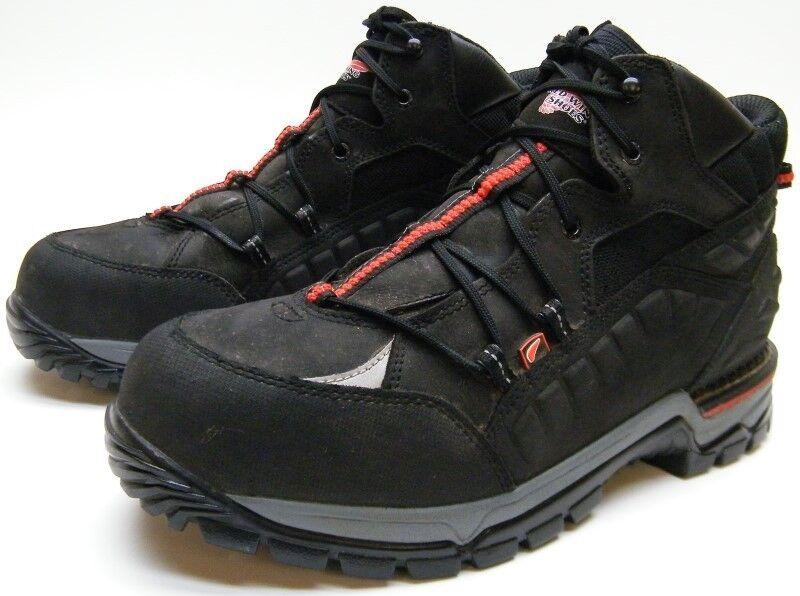 Para Hombre Rojo WING 6671 Flexforce 5  Excursionista Tobillo botas De Trabajo Con Puntera De Seguridad Negro D