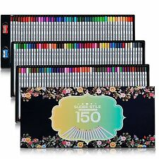 SUDEE STILE Colored Pencils 150 Colors for Art/Adult Coloring Book with Case NEW