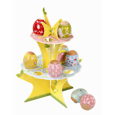 2 Tier Easter Eggs Tree Disposable Card Stand & Egg Shrinks Fun Table Decoration