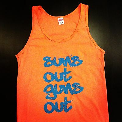 Sun's Out Guns Out Tank Top American Apparel Beach Shirt Spring Break Party