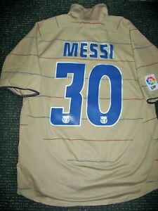 pretty nice 5aad0 de2c9 Details about Authentic Messi Barcelona Jersey DEBUT 2004 2005 Shirt  Camiseta Maglia L