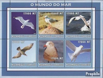 Mozambique 2662-2667 Sheetlet Unmounted Mint Animal Kingdom Stamps Never Hinged 2002 World Of Marine