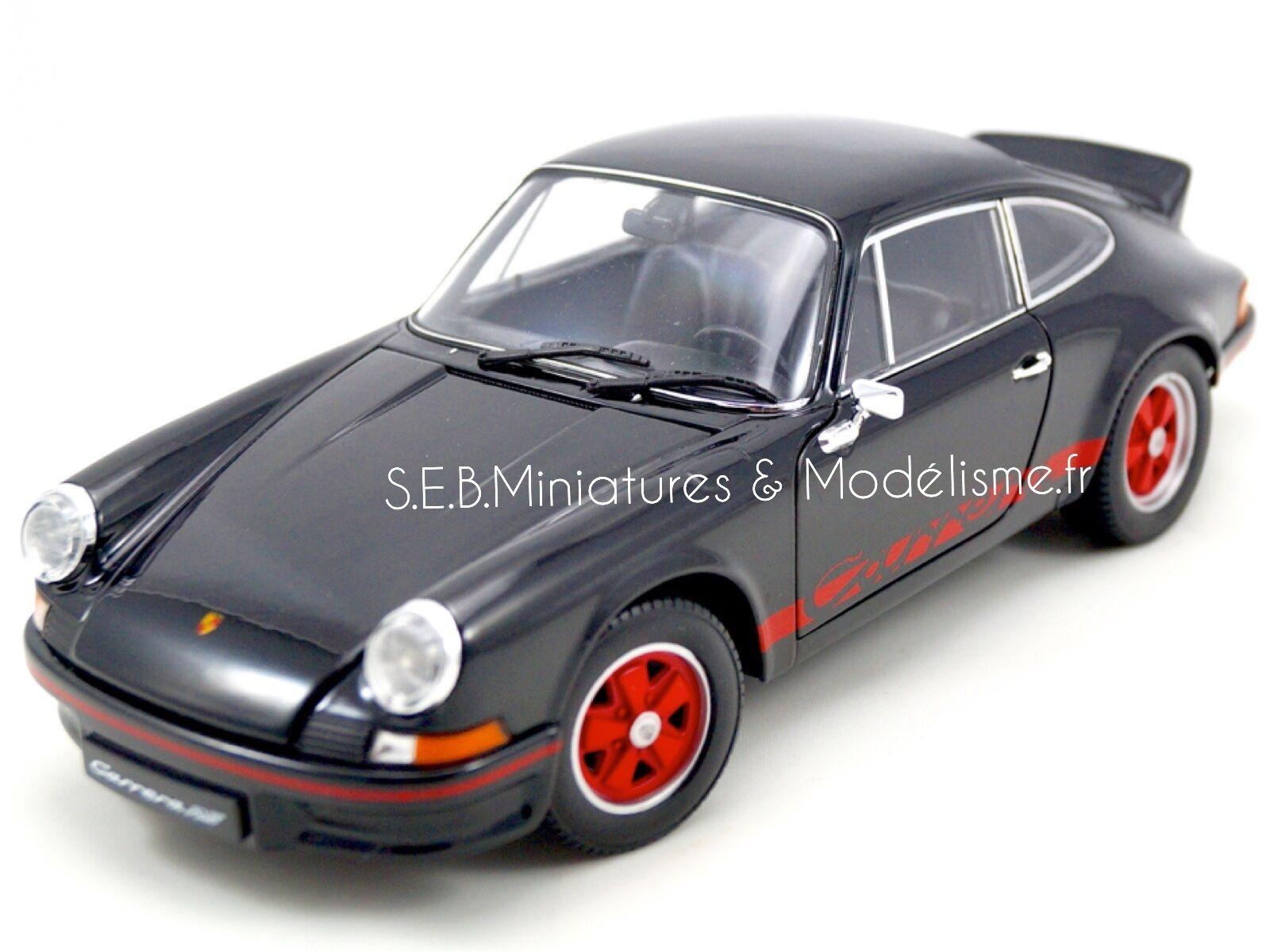 Porsche 911 CARRERA RS 2.7 1973 NOIR 1 18 WELLY
