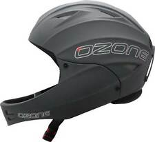 Ozone Nutshell Helmet Grey with Chin Guard for Paragliding, Hang Gliding & more