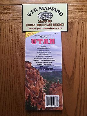 GTR Mapping Topo Recreational Map of Utah ISBN 978-1881262-282
