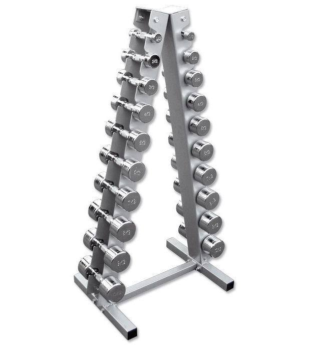 Pyramidenständer inkl. Hanteln 1 - 10 kg, Hantelsatz mit Ständer