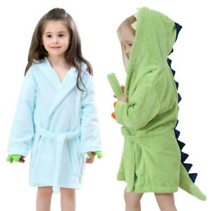 2019 clearance sale authentic quality select for official Details about Kids Bathrobe Boys Girls Dinosaur Shape Bath Towel Child  Hooded Poncho Sleepwear