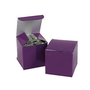 Pack-of-12-Mini-Plum-Colour-Favor-Boxes-Small-Party-Gift-Boxes