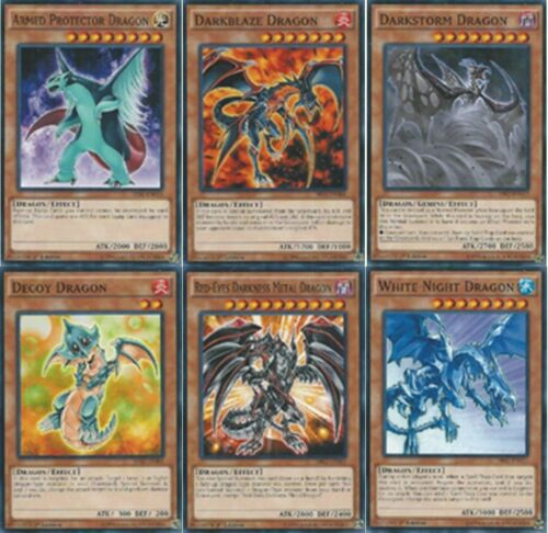 6-Cards: Decoy Dragon, Red-Eyes Darkness Metal Dragon, DarkBlaze, Armed SR02 SET