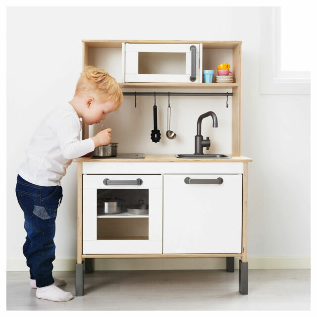 Ikea Duktig Kids Play Wood Kitchen Birch Plywood White 603 199 72 New