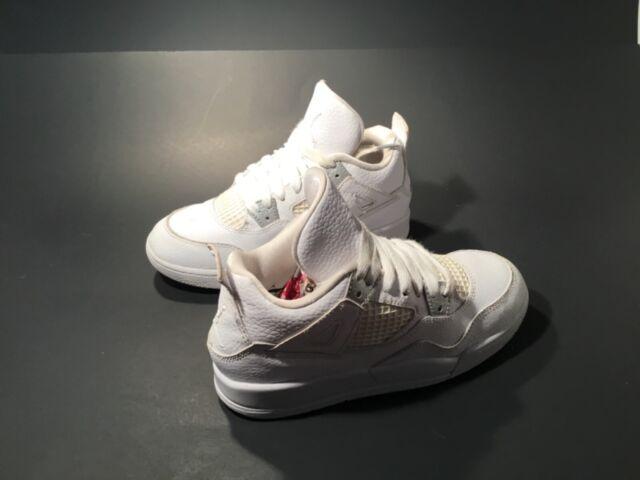 Kid's  Air Jordan 4 Retro Athletic Shoes Boys Size 1.5Y Leather #308499-100