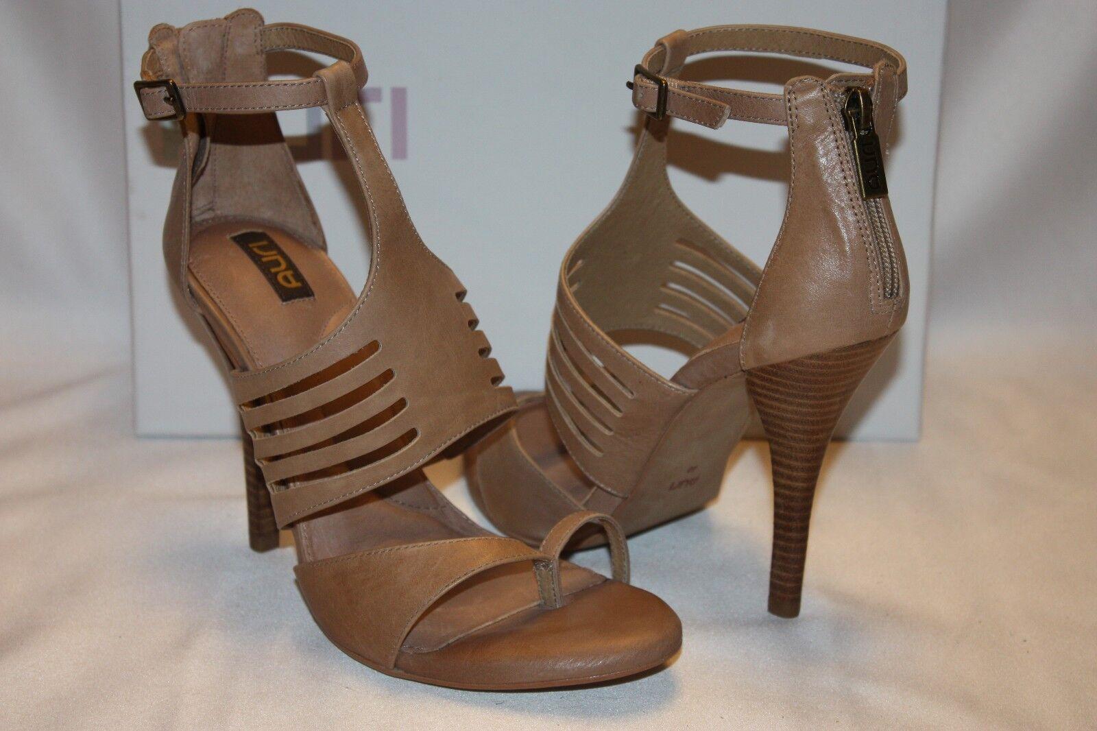 NEU  NIB  AURI Natural Tan Leder KRISTEN Ankle Strap Sandale Heels Sz 10 180