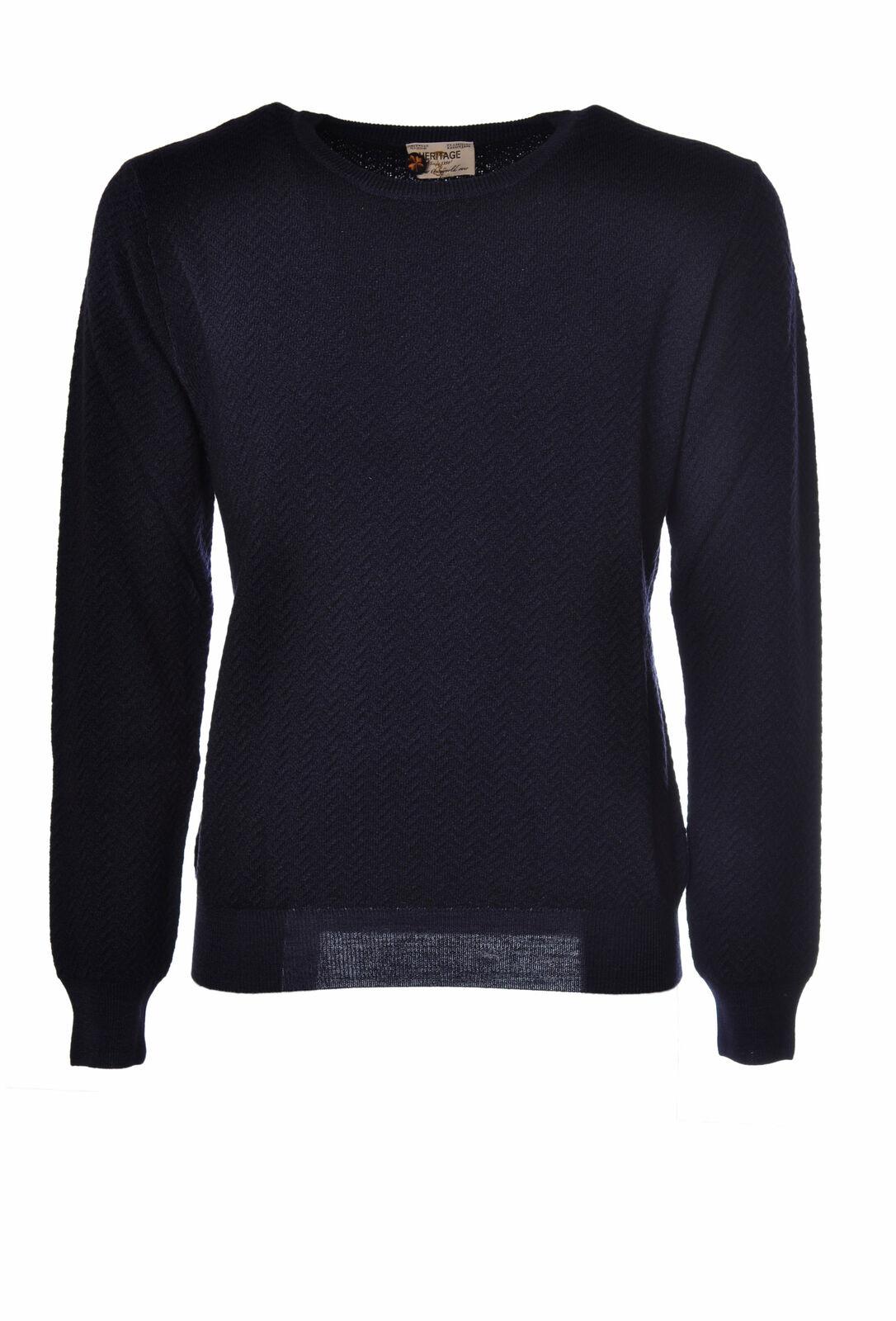 Heritage  -  Sweaters - Male - Blau - 2624314A180104