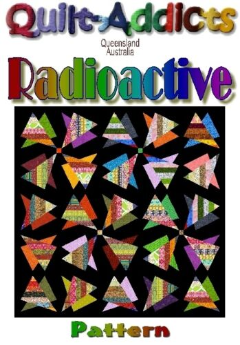 """RADIOACTIVE"" Patchwork Quilt Pattern"